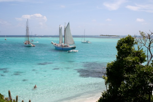 Friendship Rose at Anchor in Tobago Cays